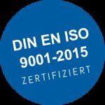 DIN EN ISO 9001-2015 Zertifiziert